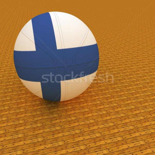 Finlandia basket bandiera rendering 3d piazza immagine Foto d'archivio © Koufax73