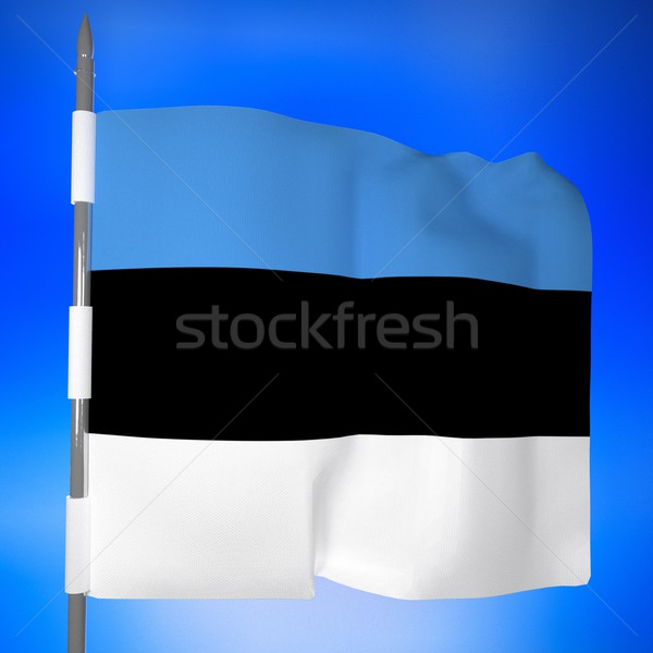 Estonia flag in blue sky Stock photo © Koufax73