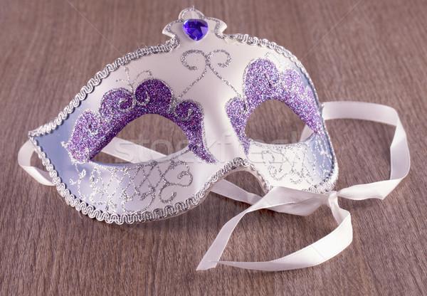 Masque masque vénitien ion bois fête Photo stock © Koufax73