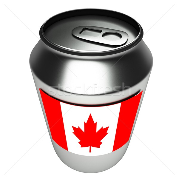 Kanada can 3D bayrak alüminyum 3d render Stok fotoğraf © Koufax73