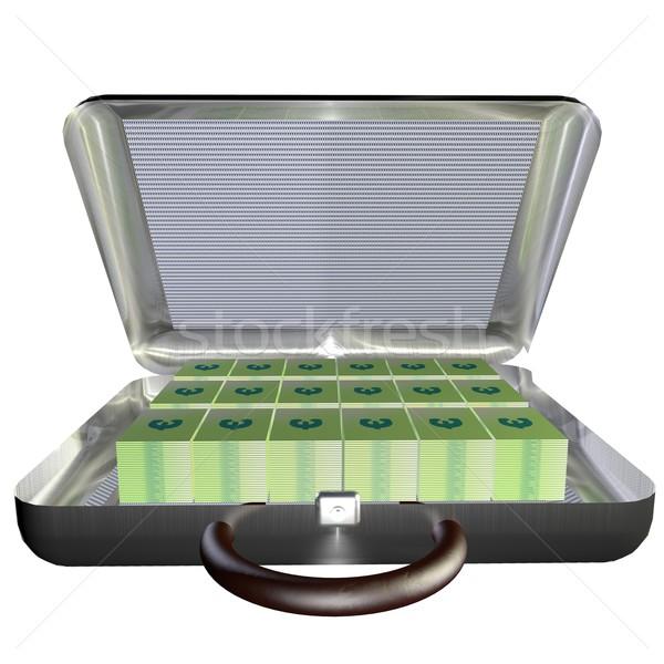 スーツケース ユーロ オープン フル シンボル ストックフォト © Koufax73