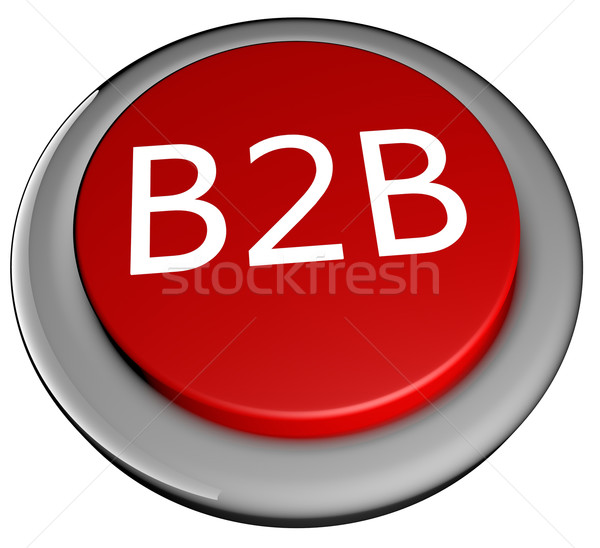 B2b przycisk czerwony tekst odizolowany biały Zdjęcia stock © Koufax73
