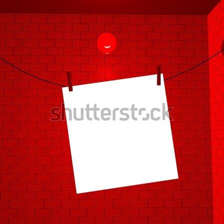 Görüntü kadar tel 3d render kâğıt arka plan Stok fotoğraf © Koufax73