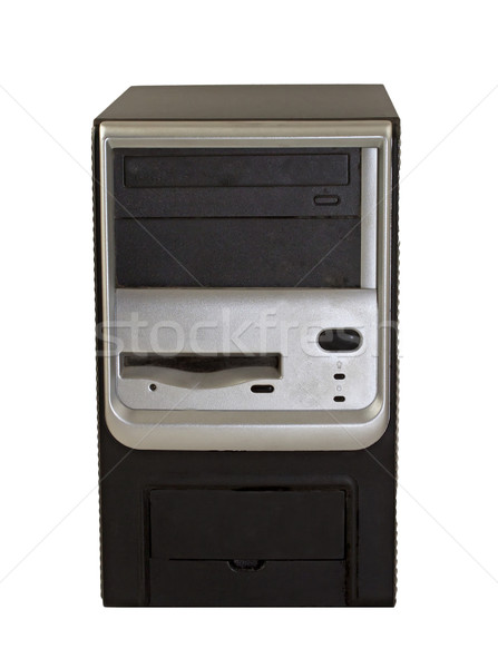 CPU torre edad pc aislado blanco Foto stock © Koufax73