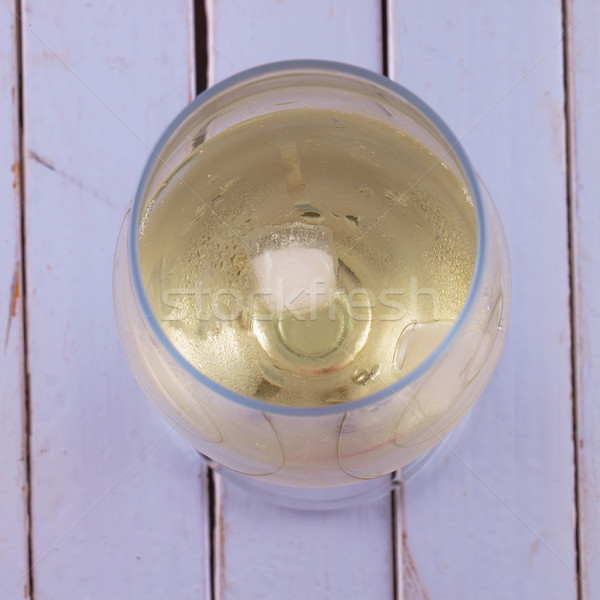 şarap beyaz şarap buz ahşap beyaz tablo Stok fotoğraf © Koufax73