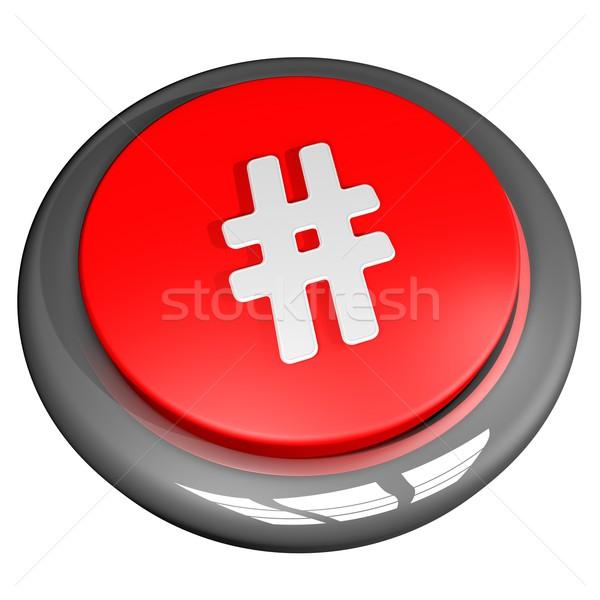 Hashtag button Stock photo © Koufax73