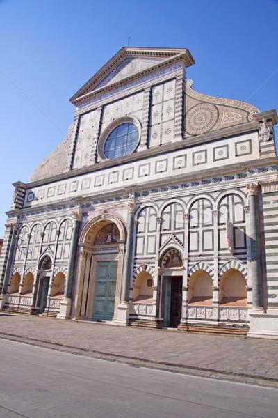 Fresk front widoku Święty mikołaj Florencja Włochy Zdjęcia stock © Koufax73