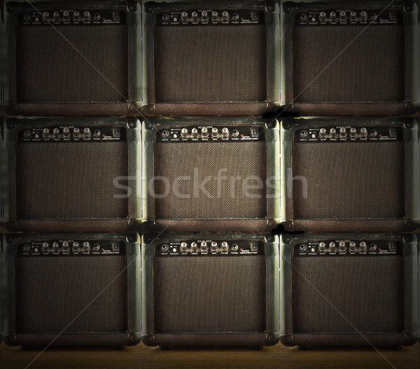 Wall of amps Stock photo © Koufax73