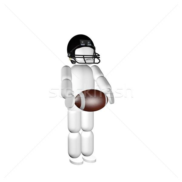 Marionette Fußball Helm weiß 3d render Sport Stock foto © Koufax73
