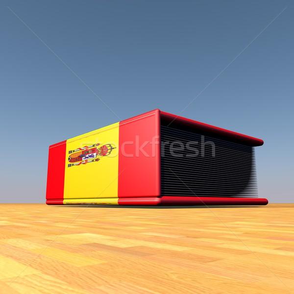 スペイン語 図書 スペイン国旗 カバー 3dのレンダリング 図書 ストックフォト © Koufax73