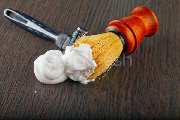 Foam and brush Stock photo © Koufax73