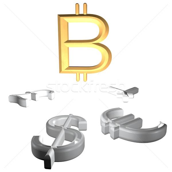 Foto d'archivio: Trionfante · bitcoin · altro · soldi · simboli · internet