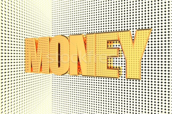 Dinheiro palavra ouro 3d render negócio Foto stock © Koufax73