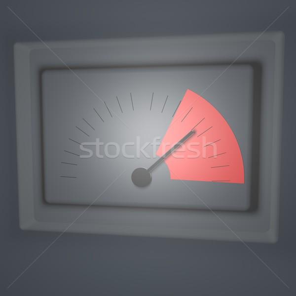 Tehlike iğne kırmızı 3d render teknoloji Stok fotoğraf © Koufax73