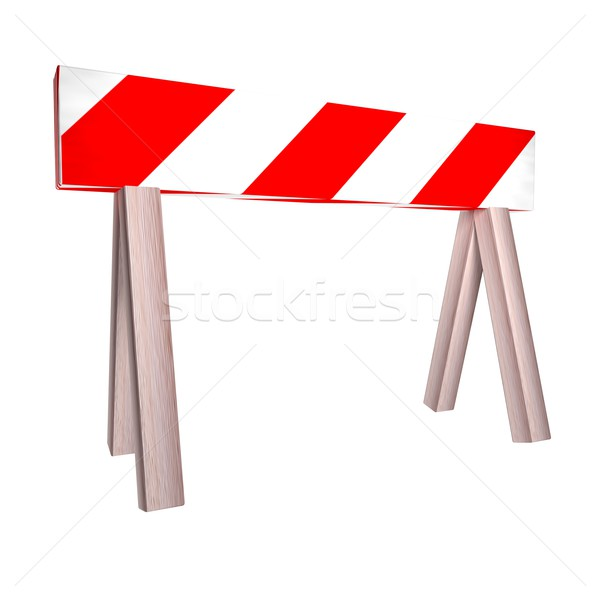 Barrier over white Stock photo © Koufax73