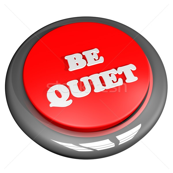 Tranquilo botón aislado blanco 3d mano Foto stock © Koufax73