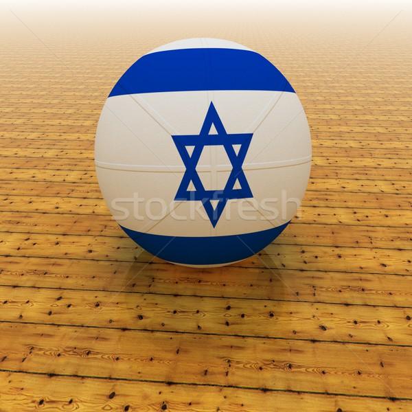 Izrael kosárlabda zászló 3d render tér kép Stock fotó © Koufax73