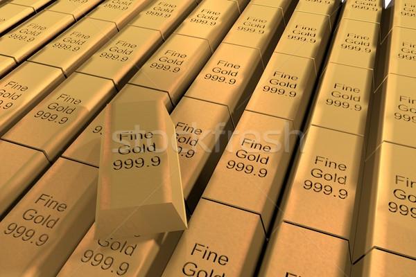 ストックフォト: 金 · 文字 · 3dのレンダリング · ビジネス · 金属