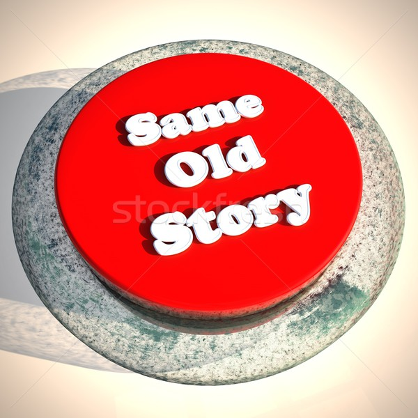 Eski öykü düğme beyaz 3d render kare Stok fotoğraf © Koufax73