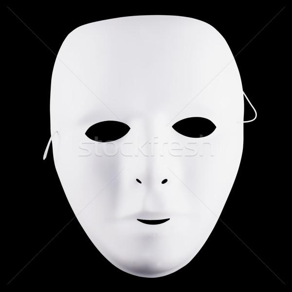 Fehér maszk feketefehér fekete tér kép Stock fotó © Koufax73