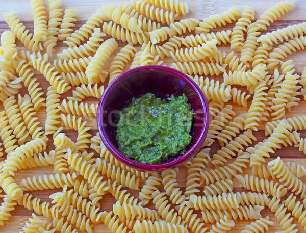 Fusilli and pesto Stock photo © Koufax73