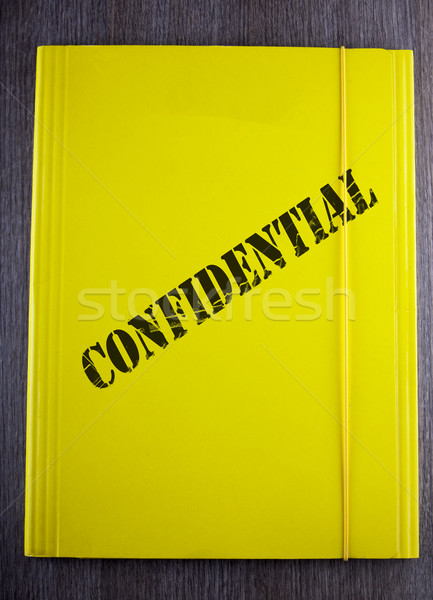 конфиденциальный желтый папке черный текста Сток-фото © Koufax73
