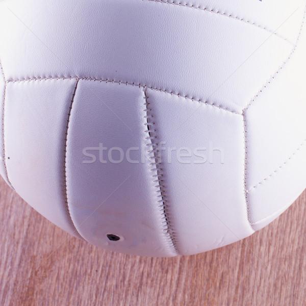Röpte labda fehér fából készült felület közelkép Stock fotó © Koufax73