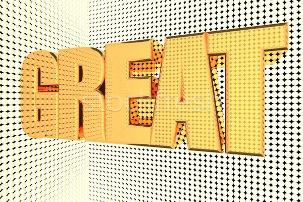 Muhteşem kelime altın 3d render arka plan Stok fotoğraf © Koufax73