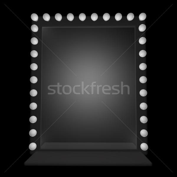Espejo alrededor 3d pared diseno fondo Foto stock © Koufax73