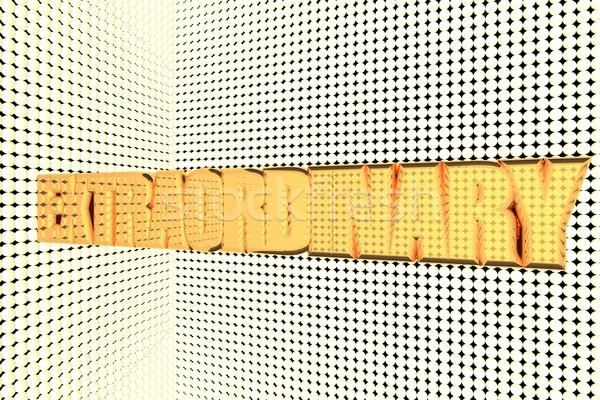 Rendkívüli szó arany megvilágított 3d render háttér Stock fotó © Koufax73