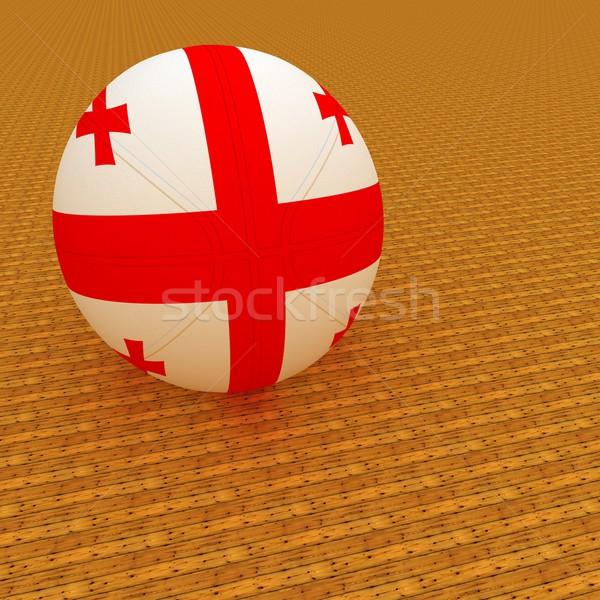 Грузия баскетбол флаг 3d визуализации квадратный изображение Сток-фото © Koufax73