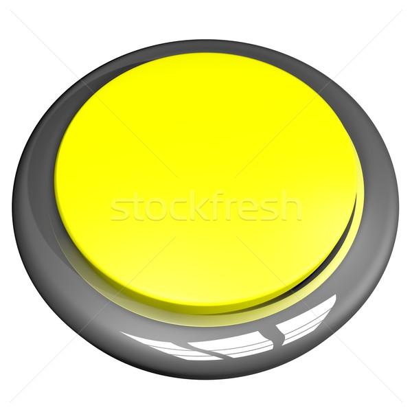 Mavi düğme yalıtılmış beyaz 3d render kare Stok fotoğraf © Koufax73