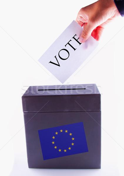 европейский урна голосования мужчины стороны баннер Сток-фото © Koufax73