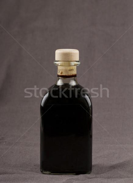 Balzsamecet elegáns üveg barna konyha olaj Stock fotó © Koufax73