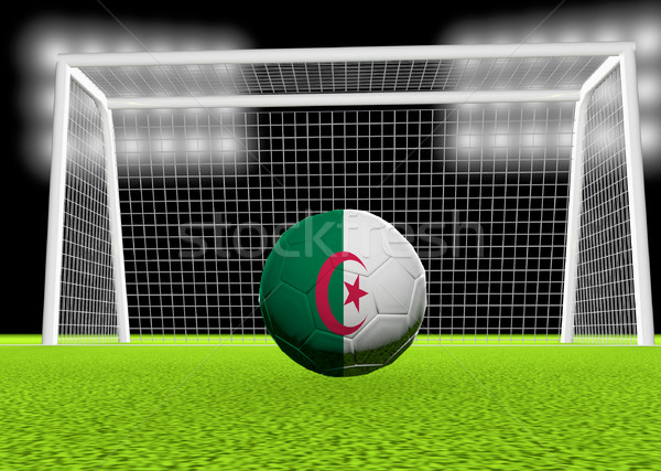 Футбол Алжир флаг футбольным мячом чистой 3d визуализации Сток-фото © Koufax73
