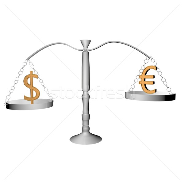 Balance with dollar and euro Stock photo © Koufax73