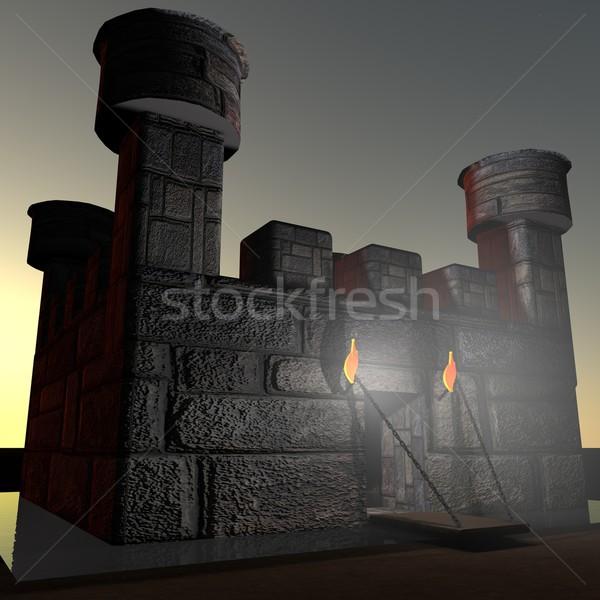 Stone castle Stock photo © Koufax73