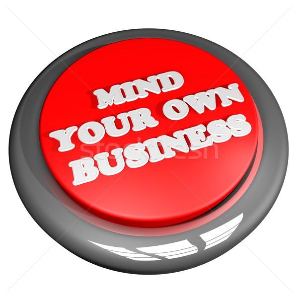 Minte propriu afaceri buton 3d face izolat Imagine de stoc © Koufax73