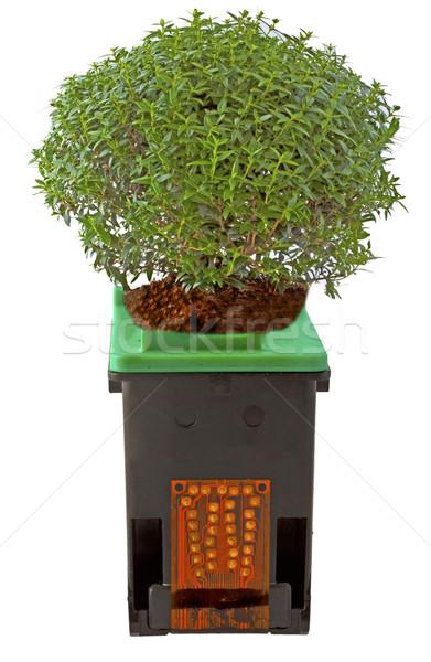 печать картридж завода черный зеленый символ Сток-фото © Koufax73