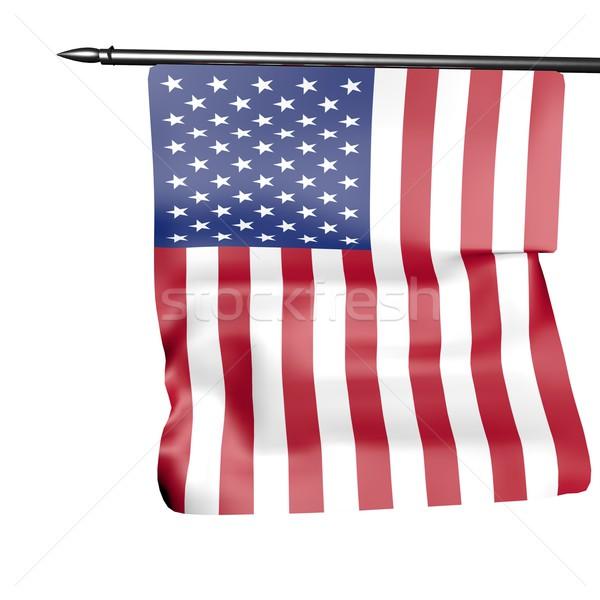 USA zászló izolált fehér 3d render háttér Stock fotó © Koufax73