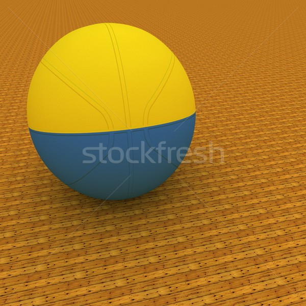 Oekraïne basketbal vlag 3d render vierkante afbeelding Stockfoto © Koufax73