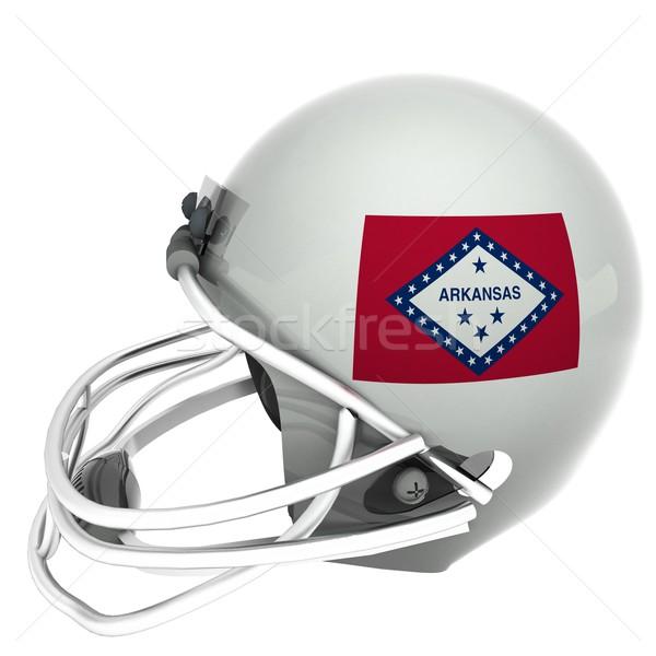 Arkansas futball zászló sisak 3d render izolált Stock fotó © Koufax73