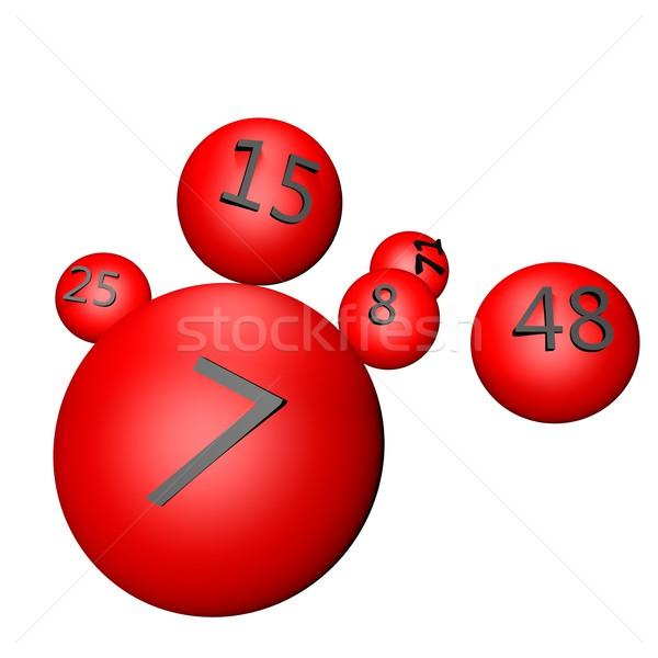 Lotteria numeri rendering 3d gioco vincitore Foto d'archivio © Koufax73