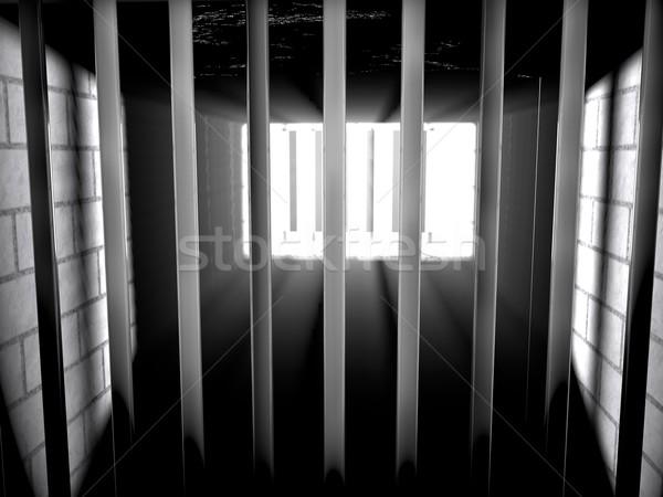 Cárcel dentro luz fuera 3d fondo Foto stock © Koufax73