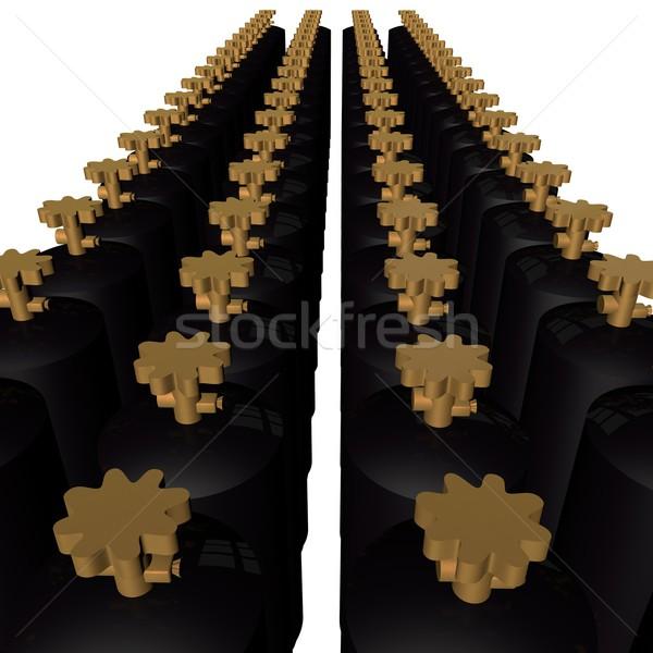 Gas zwarte geïsoleerd witte 3d render Stockfoto © Koufax73
