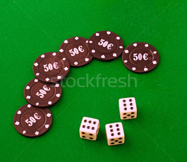 Dice and chips Stock photo © Koufax73