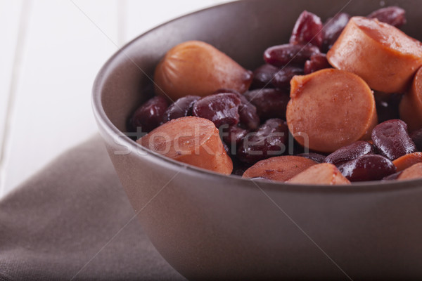 Sausage and beans Stock photo © Koufax73