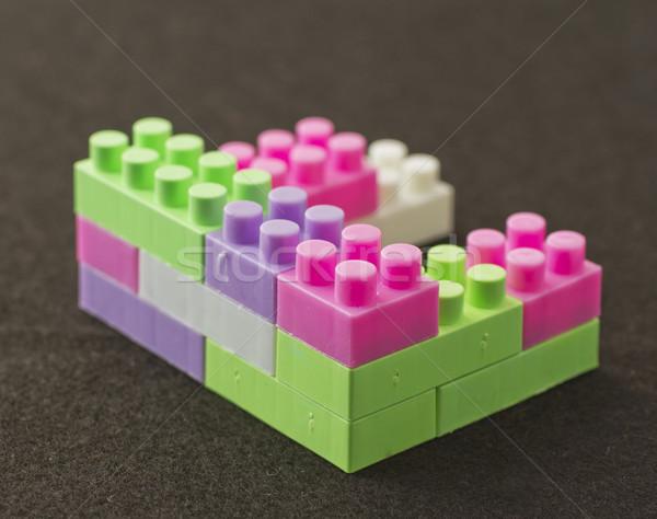 Construction jeu pièces noir résumé groupe Photo stock © Koufax73