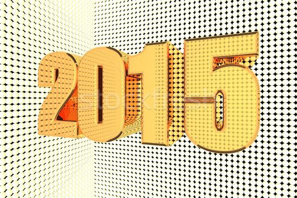 2015 szó arany megvilágított 3d render üzlet Stock fotó © Koufax73