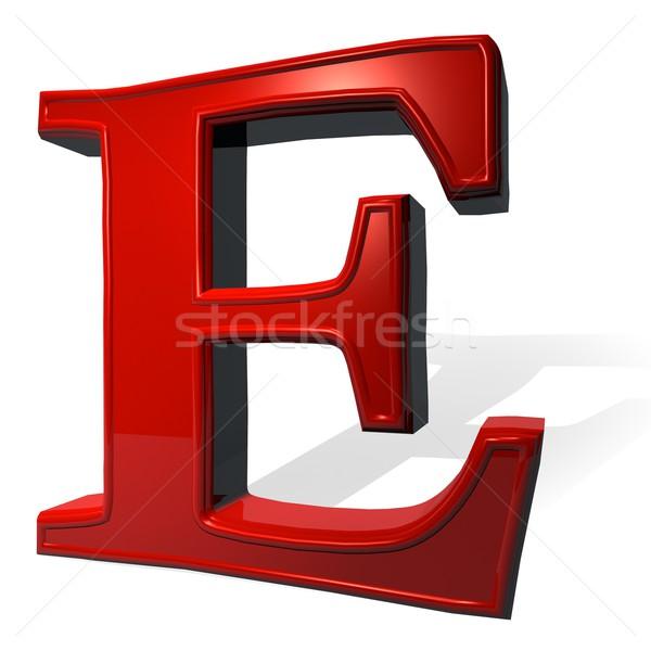 Letter E Stock photo © Koufax73